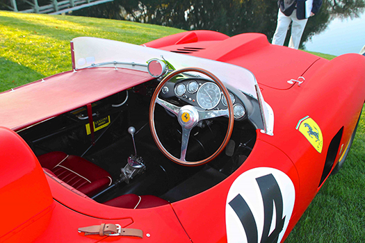 1956 Ferarri 290MM Sir Stirling interior