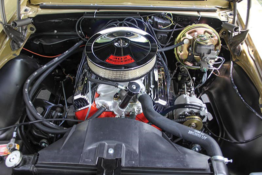 67 Chevrolet Camaro engine bay