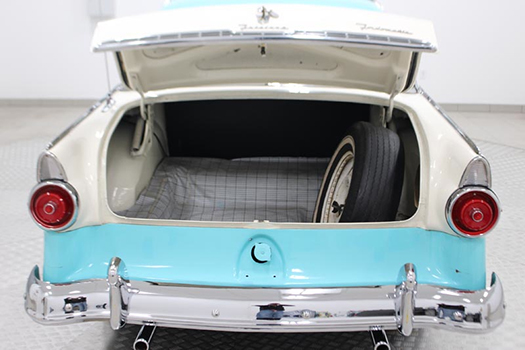 55 Ford Crown Vic trunk