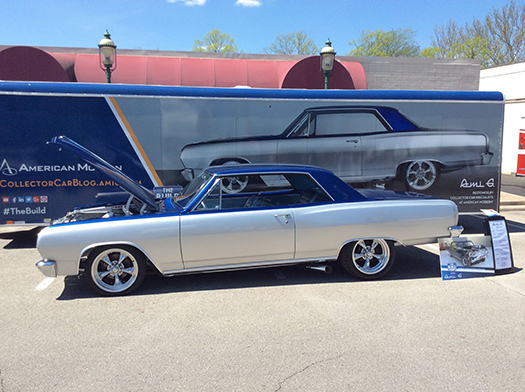 65 Malibu restomod side trailer