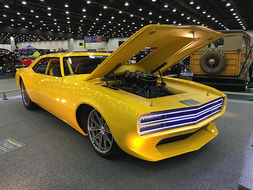 Detroit Autorama Yellow Camaro